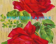 Antique Happy Birthday Postcard Featuring Beautiful Red Rose Blossom and Birthday Greeting. This Lovely Card is Circa the Early 1900's. - Edit Listing - Etsy