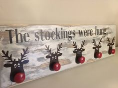 A - Free Ship Canada & USA - Rustic christmas sock hanger - Snowman Frosty Stocking Hanger hanger holder mantel santa reindeer rudolph Decoration Christmas, Noel Christmas, Christmas Signs, Rustic Christmas, All Things Christmas, Winter Christmas, Rudolph Christmas, Simple Christmas, Fire Place Christmas Decor