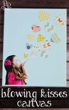 DIY Blowing Kisses Canvas