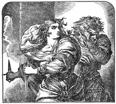 This picture represents Macbeth and his morals in act 3. After Macbeth decided to kill Banquo, we learn that Macbeth no longer is following his morals.