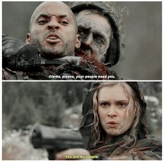 You are my people || The 100 season 2 episode 13 || Lincoln and Clarke Griffin || Ricky Whittle and Eliza Taylor