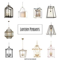 Today's chicest spaces all have one thing in common…lantern pendant lighting. I love the look, what about you? I am considering lantern style pendants over our island for our kitchen re…