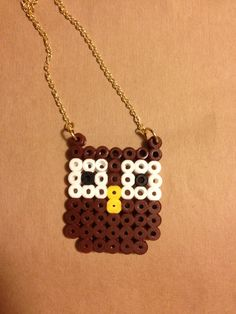 OWL beaded pendant on a goldfilled necklace by NOGstore