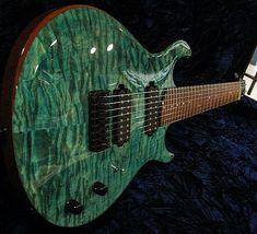 "Artinger Guitars on Instagram: ""8-string, Quilted Maple Top, Hawaiian Ice Finish. #8string #guitar #music #guitargasm #muscian #rocknroll #guitarporn #guitarist #artinger…"""