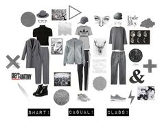 """Grey"" by coopdogxo on Polyvore featuring Rosetta Getty, Acne Studios, Converse, WithChic, adidas Originals, Keds, adidas, NIKE, Lands' End and Wendover Art Group"