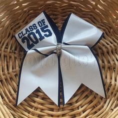CLASS OF 2015 Autograph Cheer Bow No Smudge Custom by Bowtique781