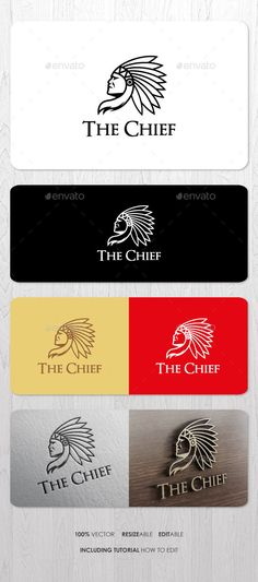 The Chief Logo by ashenterprise Elegant pictorial logo for your business identity. Files including EPS, AI, and PDF Help (including font link and simple tutorial Logo Design Template, Logo Templates, Invitation Templates, Fantasy Football Funny, Tribal Bear, Fantasy Logo, Indian Teepee, Chiefs Logo, Hotel Logo