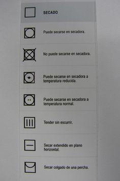 Qué significan los símbolos de las etiquetas de la ropa: Secado