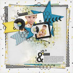 <p> 	STAR BRIGHT V.2 Page Drafts for digital scrapbooking by The Nifty Pixel</p>