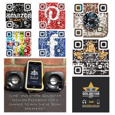 """""""Like"""" Goldstar Tech on Facebook and follow us on Instagram for a chance to win these Sony Speakers!"""