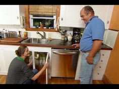 Hook up a new dishwasher in your kitchen with help from This Old House plumbing and heating expert Richard Trethewey Home Design, Home Renovation, Home Remodeling, Kitchen Remodeling, Farmhouse Renovation, Best Bathroom Designs, Diy Kitchen Remodel, Old Kitchen, Kitchen Ideas