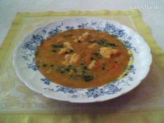 Pohánková polievka so zeleninou - recept   Varecha.sk Thai Red Curry, Ethnic Recipes, Red Peppers