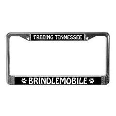 Treeing Tennessee Brindlemobile License Plate Frame