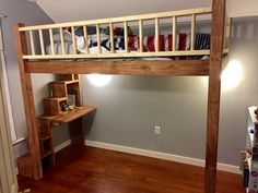 Loft bed plans with stairs and desk
