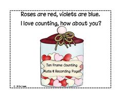 Valentine Ten Frame Counting Mats! Freebie!