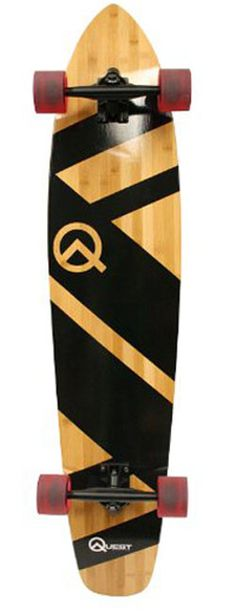Longboard Skateboard for Boys 44 Inch Super Cruiser Bamboo Deck Outdoor Sports for sale online Bamboo Longboard, Best Longboard, Skateboard Deck Art, Cruiser Boards, Drift Trike, Cool Skateboards, Longboarding, Black Wood, Sports Equipment