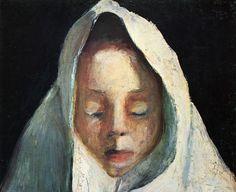 Muchacha con pañuelo blanco, Paula Modersohn-Becker