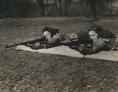 Photo of students at Chatham University (a women's college) shooting during rifle class, 1939     From 1936 until 1944, Pennsylvania College for Women offered rifle instruction as part of the physical education curriculum. Students taking the yearlong class would play golf in the fall and spring and shoot rifles in the winter.