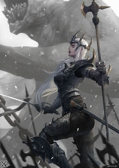 ArtStation - Black matel queen, mist XG