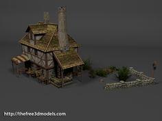 medieval mill or blacksmith