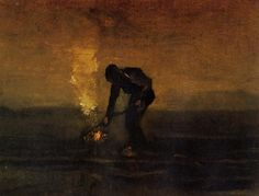 Peasant Burning Weeds - Vincent van Gogh 1883