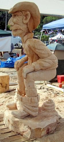 Toilet anyone! Wood Carving Designs, Wood Carving Art, Wood Art, Wood Carvings, Driftwood Sculpture, Tree Sculpture, Abstract Sculpture, Metal Sculptures, Bronze Sculpture