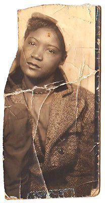 1940s Vintage African-american Pretty Woman Old Photo Booth Black Americana