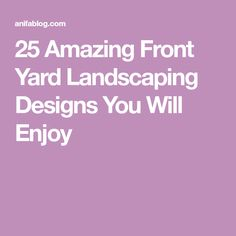 25 Amazing Front Yard Landscaping Designs You Will Enjoy Trees For Front Yard, Front Yard Decor, Front Yard Design, Front Yard Landscaping, Rose Arbor, Small Fountains, Corner Garden, Horizontal Fence, Beautiful Flowers Garden