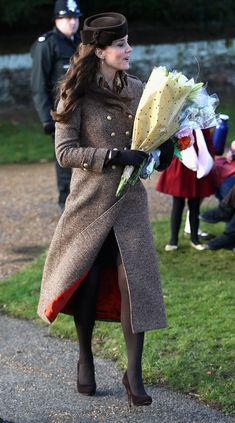 Kate Middleton: The Royal Family Attend Church On Christmas Day - December 25, 2014