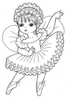 Desenho Para Colorir - Bailarina