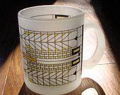 Frank Lloyd Wright Oak Park house inspired stained glass mug