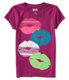 Kids' Glitter Lips Graphic T - PS From Aéropostale®