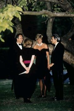 Princess Diana at the Serpentine Gallery, Kensington Gardens (yards from her home in Kensington Palace) for a Vanity Fair party just after her husband Prince Charles admitted on TV that he had an affair with Camilla Parker Bowles, and had always loved her. June, 1994