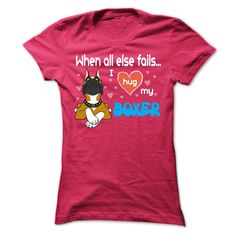 Boxer Dog WH T-Shirts, Hoodies. GET IT ==► https://www.sunfrog.com/Pets/Boxer-Dog_WH-Ladies.html?id=41382