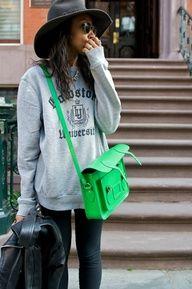 Mens sweatshirt. Cambridge satchel.