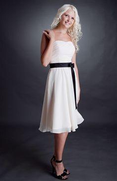 A-line Chiffon Drop Sweetheart Bridesmaid Dress - OuterInner.com
