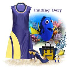 """Finding Dory"" by love-n-laughter ❤ liked on Polyvore featuring Lattori, CÉLINE, Toolally, Christian Louboutin, Aurélie Bidermann and disney"