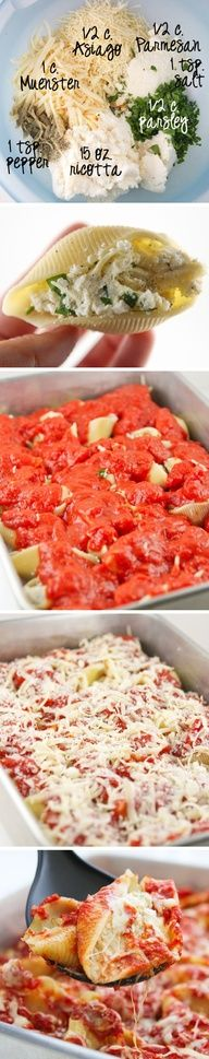 Megans Four Cheese Stuffed Shells | Recipe By Photo