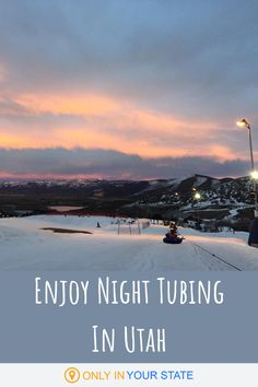 Snow tubing is a fun, family friendly activity. Great for day trips or dates, almost anyone can do it. Kids and beginners are welcome and will have a blast at this Utah snow tubing destination. You'll find the best and longest lanes in the state. Winter Fun, Winter Travel, Utah Snow, American Country, Winter Activities, Night Time, Day Trips, Dates, Travel Destinations