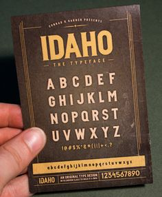 Type Design: IDAHO by Conrad Garner - FREE font