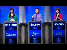 One Direction on Jeopardy. HAHAHAHAHA SHE SAID BIG TIME RUSH AND HE LOOKED SO RELIEVED WHEN HE GOT IT RIGHT! I would have gotten it in a heartbeat.