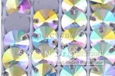 Wholesale Sew on Rhinestones - Buy 16mm Round Sew on Crystal Rhinestone Flatback Crystal AB Color 16 Mm Circle 2 Holes Silver Base Sew, $0.16 | DHgate Beading Ideas, Beading Supplies, Crystal Rhinestone, Rhinestones, Abs, Buttons, Crystals, Sewing, Silver