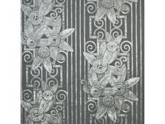 The Art Deco Fleur Moderne Wallpaper by Ralph Lauren is on sale at Au Fil de l'Eau Antiques. Charcoal Wallpaper, Black Wallpaper, Wallpaper Online, Wallpaper Samples, Art Deco Stoff, Art Deco Fabric, Ralph Lauren Fabric, Chinese Wallpaper, Fabric Houses