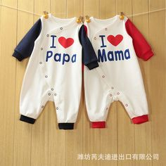 $9.68 (Buy here: https://alitems.com/g/1e8d114494ebda23ff8b16525dc3e8/?i=5&ulp=https%3A%2F%2Fwww.aliexpress.com%2Fitem%2FBaby-Romper-Girl-and-Boy-Long-sleeve-I-love-Mom-and-Dad-Clothing-Set-for-Newborn%2F32695645983.html ) Baby Romper Girl and Boy Long sleeve I love Mom and Dad Clothing Set for Newborn Next Jumpsuits & Rompers for just $9.68