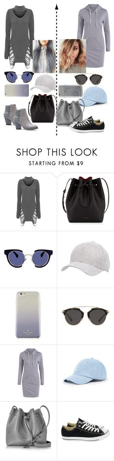 """""""Cute friends"""" by farahaly ❤ liked on Polyvore featuring WearAll, Mansur Gavriel, Kaleos, Charlotte Russe, Kate Spade, Christian Dior, Sole Society, Lancaster, Converse and Agent 18"""