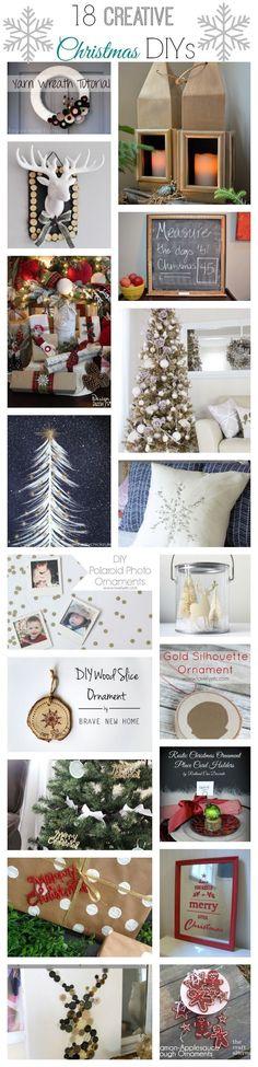 18 creative and modern takes on traditional Christmas decor!
