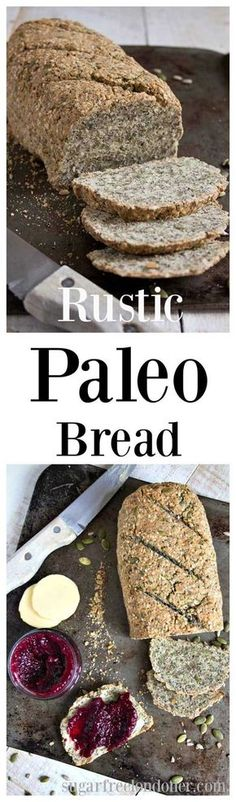 This rustic Paleo bread is nutrient-dense, grain free and packed with seeds. It's perfect for gluten free, sugar free and low carb diets.