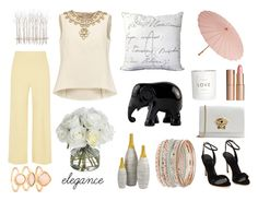 """""""Untitled #53"""" by redililla on Polyvore featuring The Row, Tory Burch, Monsoon, Versace, Charlotte Tilbury, Diane James, Cultural Intrigue, H&M, Surya and The Elephant Family"""