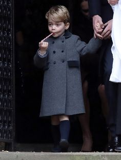 Prince George, the son of the Duke and Duchess of Cambridge, sucks a sweet as he leaves following the morning Christmas Day service at St Mark's Church in Englefield, near Bucklebury in southern England, Britain, December 25, 2016. REUTERS/Andrew Matthews/Pool     TPX IMAGES OF THE DAY via @AOL_Lifestyle Read more: http://www.aol.com/article/entertainment/2016/12/27/prince-george-steals-the-show-on-christmas-with-his-adorable-ant/21642723/?a_dgi=aolshare_pinterest#fullscreen