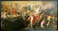 Rubens. Le Concert (ou Conseil) des dieux pour les mariages réciproques de la France et de l'Espagne, dit autrefois Le Gouvernement de la reine, 1621-1625. Hst, 394x702cm. Cycle de Marie de Médicis. Musée du Louvre.